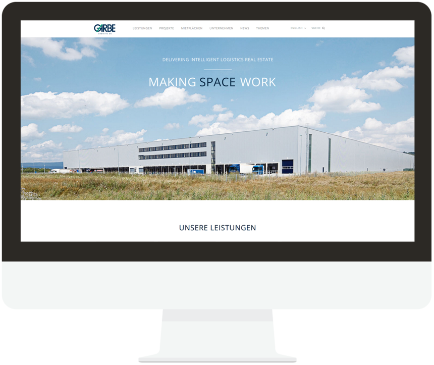 Responsive website for Garbe Industrial Real Estate